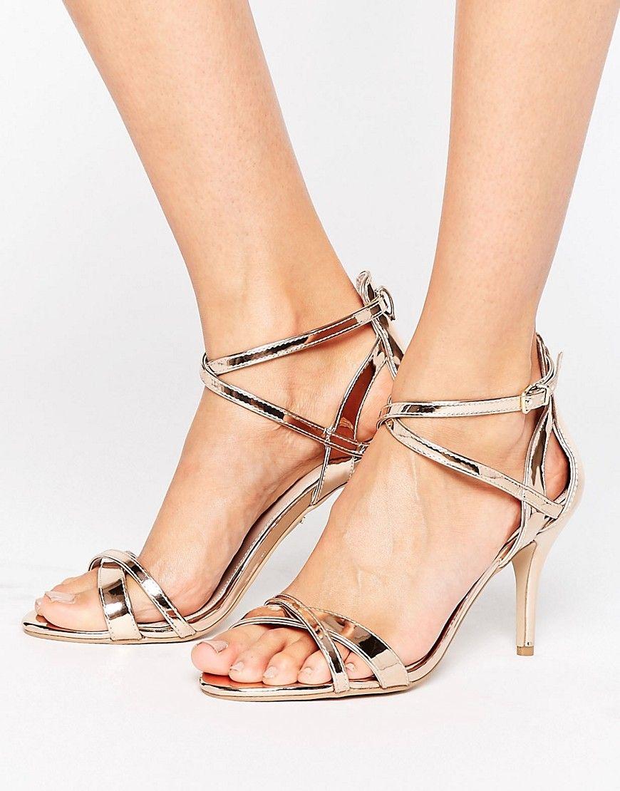 b5c75097319 Carvela Gareth Rose Gold Heeled Sandals in 2019 | Sandals | Shoes ...
