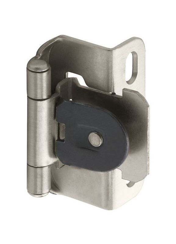 Amerock Bpr8719g10 Satin Nickel Functional Series 1 2 Inch Overlay Partial Wrap Single Demountable Hinges Pair Amerock Hinges Overlay Hinges Amerock
