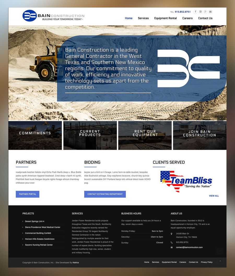 Ketrics Denver Marketing Website Web Design General Contractor