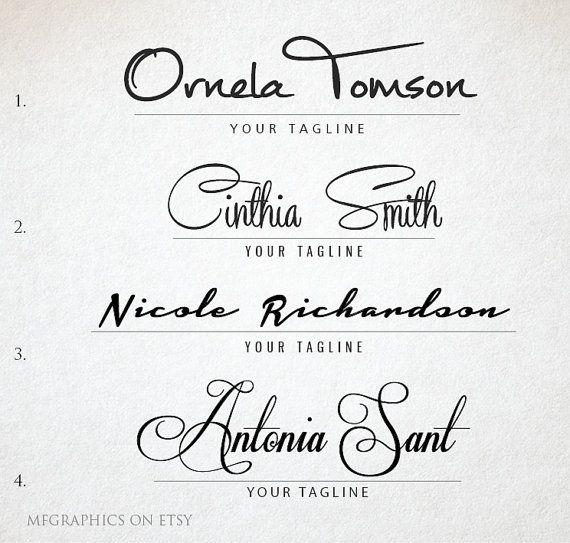 Premade Logo, Custom Logo, Handwritten, Signature Logo ...