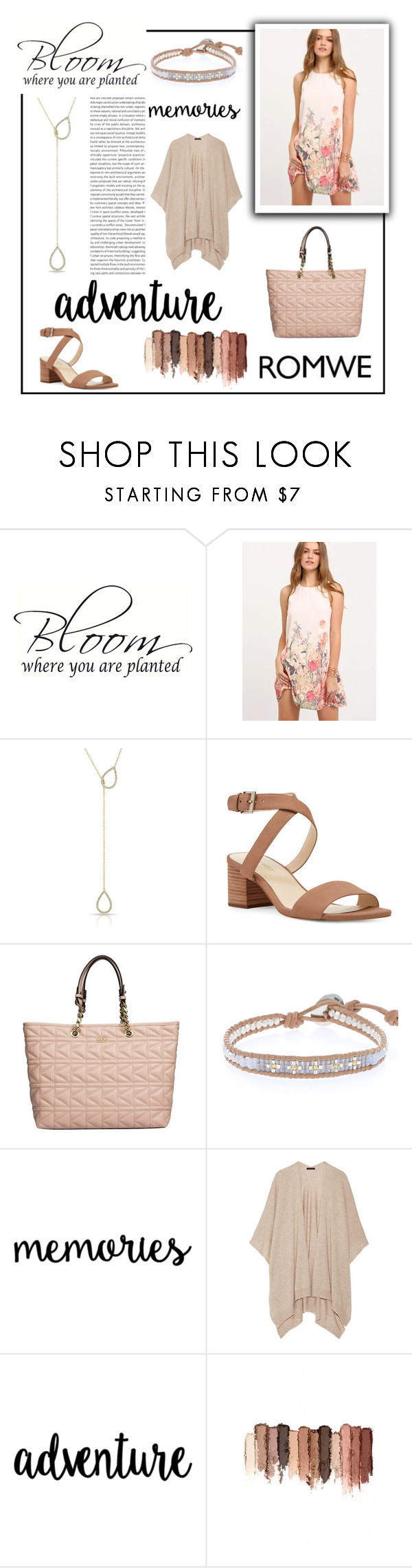 """Vintage Flower Girl"" by roseforbes ❤ liked on Polyvore featuring Nine West, Karl Lagerfeld, Chan Luu, The Row, tarte and vintage"