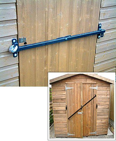 Garden Shed Security Lock Fits To 750mm Wide Door Shedbar Shed Security Shed Doors Door Plan
