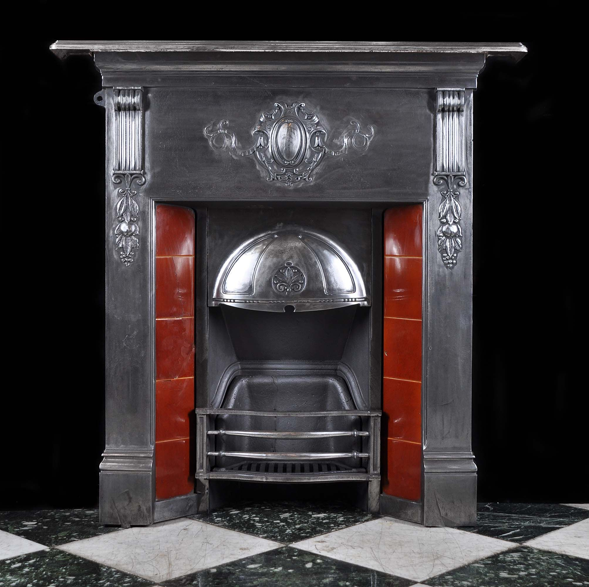 antique small cast iron victorian fireplace mantel ideas for the