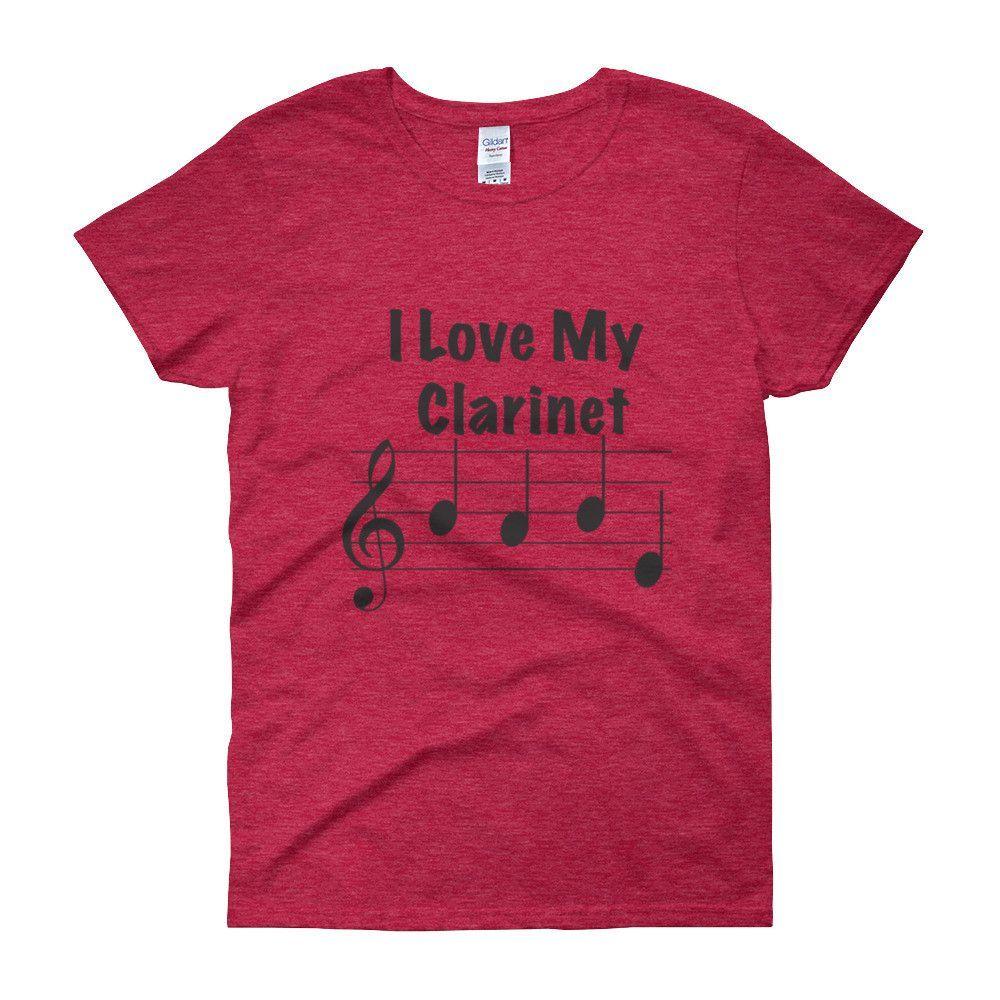 I Love My Clarinet, (Babe), Women's short sleeve t-shirt