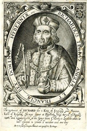 Portrait bust in an oval with orb and broken sceptre.  1618 Engraving