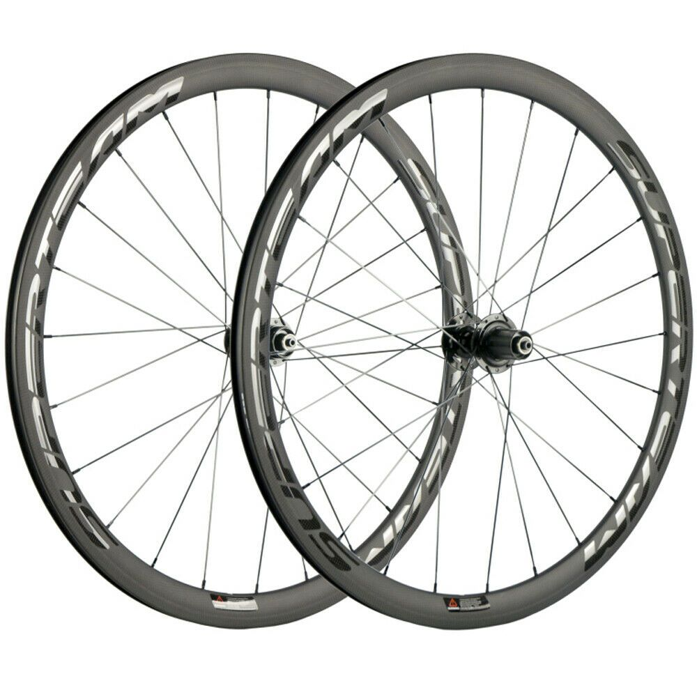 Superteam 38mm Bicycle Wheels 23mm Width Clincher Carbon Wheelset Road Disc Hub Ebay Bicycle Wheels Bicycle Road Bicycle Bikes