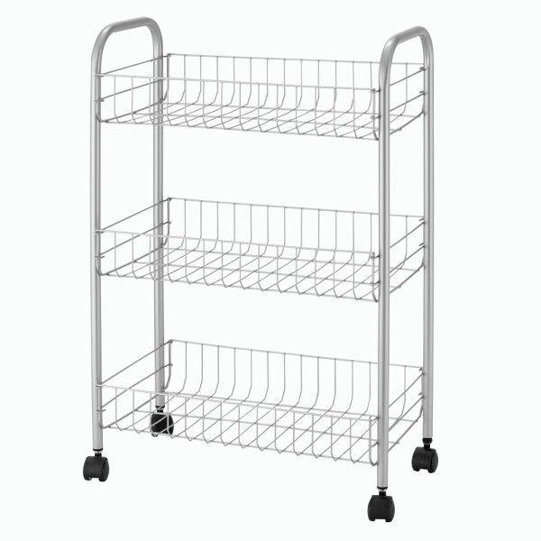 Trolley Metal 3 Shelves Kitchen Cart Shelves Metal