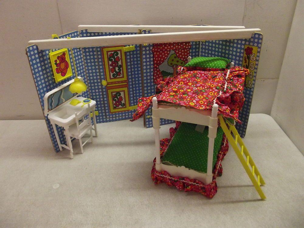 1975 GROWING UP SKIPPER 2 IN 1 BEDROOM BARBIE PLAYSET SEARS EXCLUSIVE W/BOX
