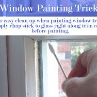 Painting tricks for windows and the trim around them is no fun - here are a few tips and tricks that will make the job easier | In My Own Style