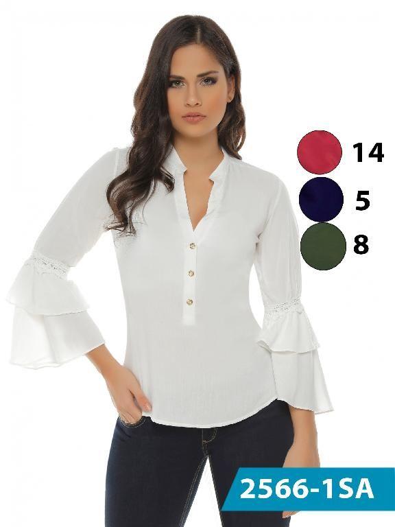 fe04ca036239 Blusa Moda Colombiana Solo Amor - Ref. 246 -2566-8 Verde | Blusas en ...