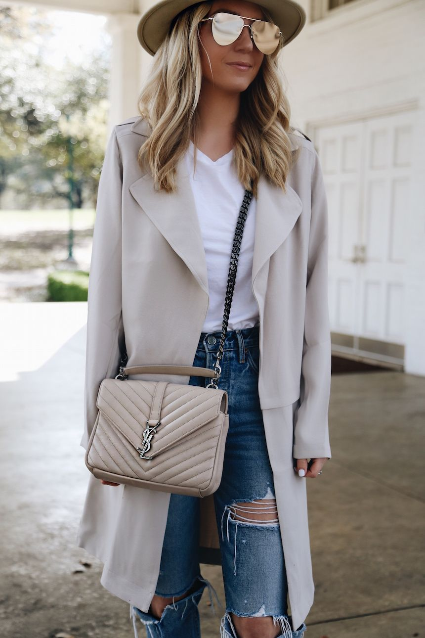 b02d9d0b2 A Lightweight Trench For Spring | { outfits } in 2019 | Fashion ...