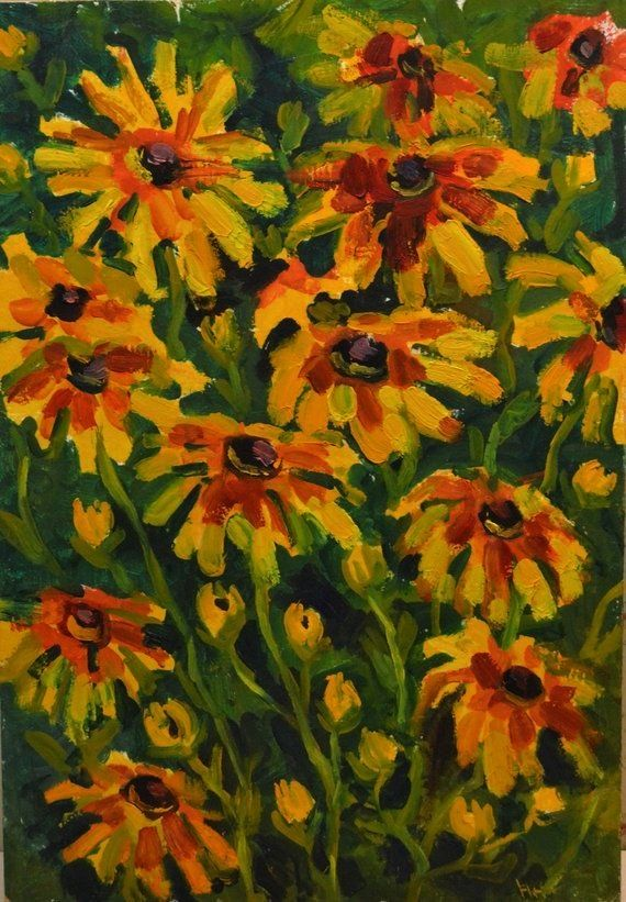 flowers oil painting field bouquet floral original painting art sunflowers bright mini paint flowers wall gift for her housewarming yellow flowers oil painting field bouq...