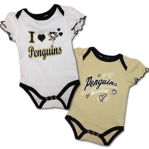 Penguins baby girl body suit set 2 pack pittsburgh penguins baby infant toddler girl