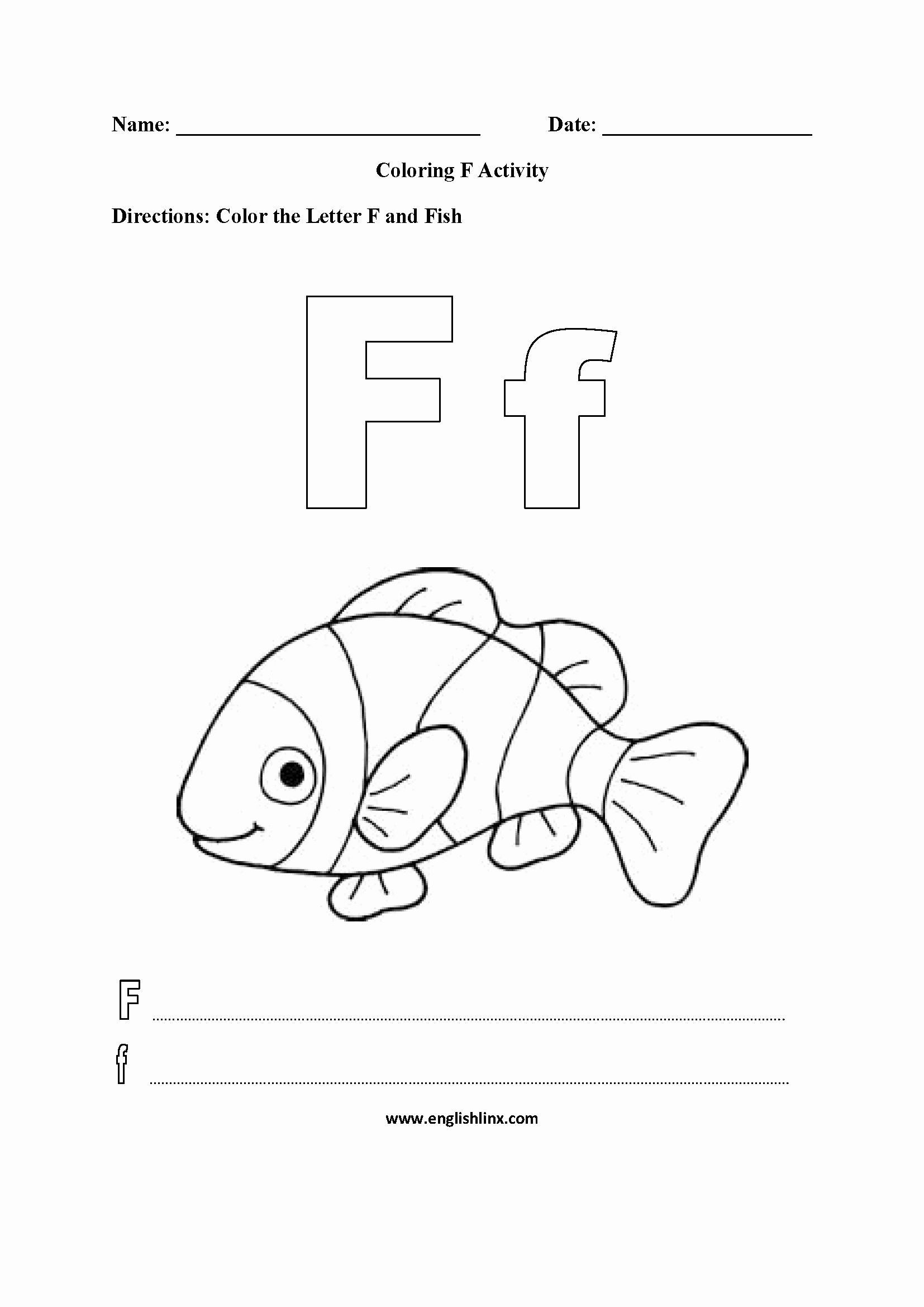 The Letter F Coloring Page Unique Letter F Coloring Page