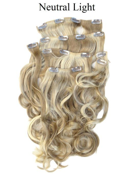 Amazon Com New Real Look Hair Extension Dark Ash Blonde Mix