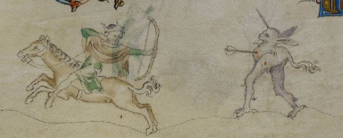 The Queen Mary Psalter 1310-1320 Royal MS 2 B VII  Folio 165r