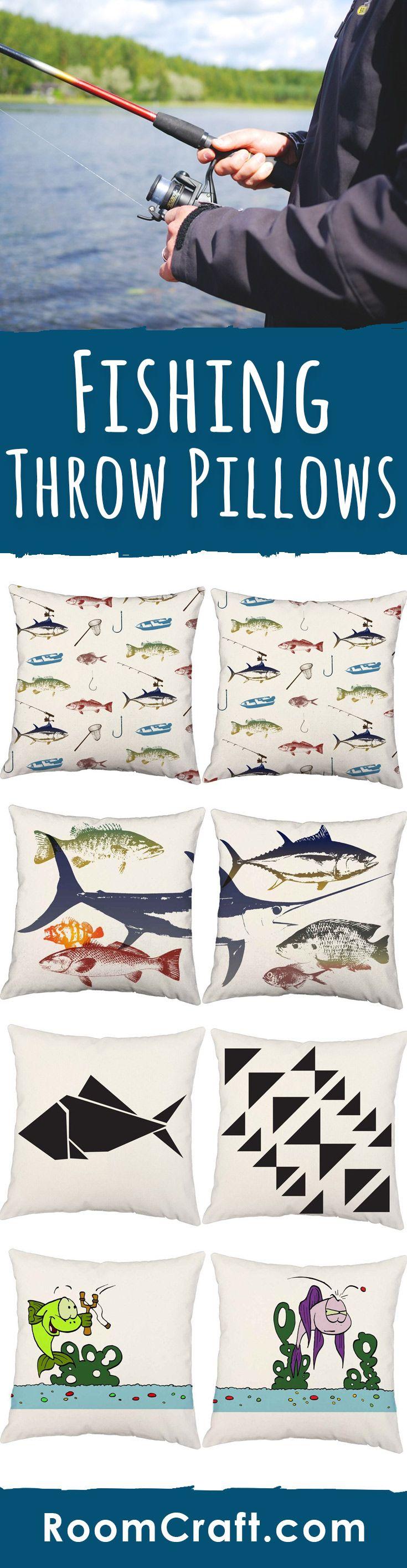 Deep Sea Fish Throw Pillows #relaxingsummerporches