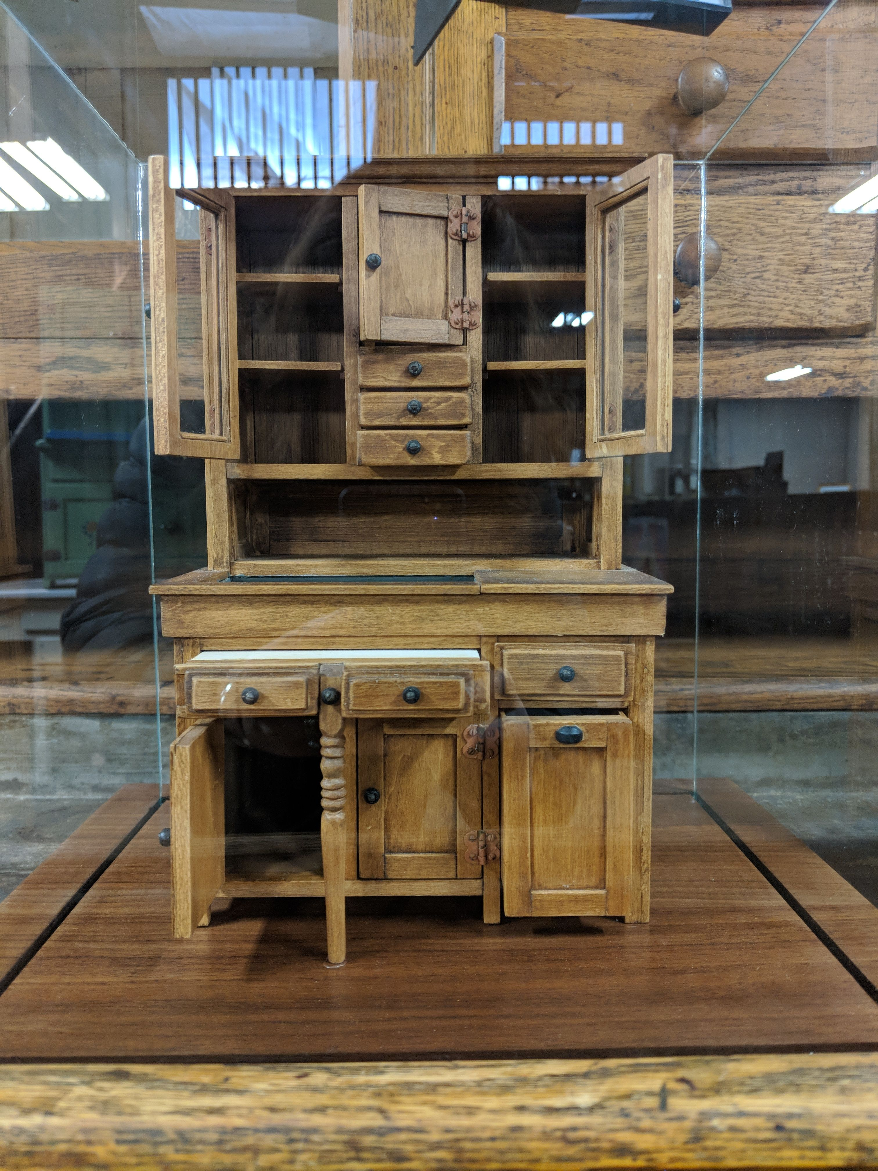 This Miniature Hoosier Cabinet Is The Feature Of Today S Hoosiercabinetmonday Many Of Our Visitors Think It S A Salesman S M Hoosier Cabinet Cabinet Nappanee