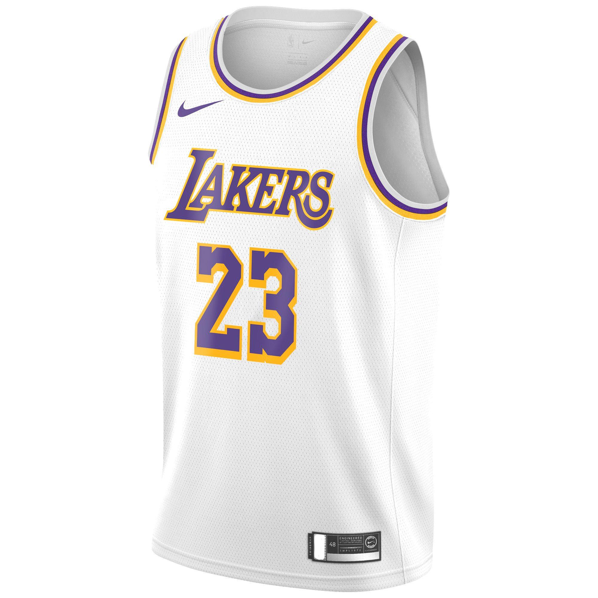 Nike Lebron James Lakers Jersey In 2020 La Lakers Jersey Lebron James Los Angeles Lakers