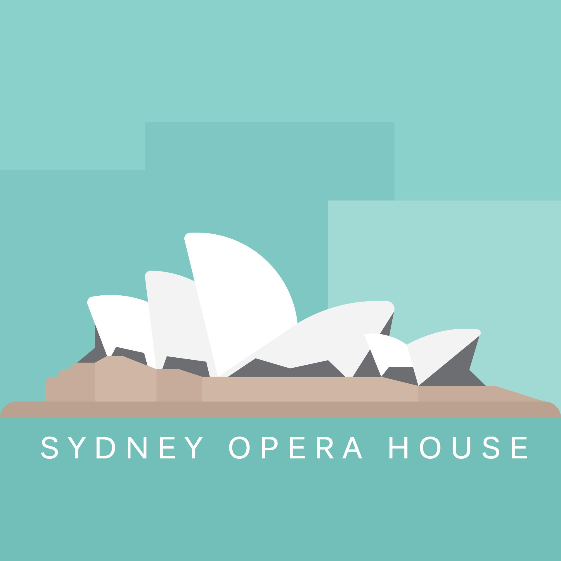 Cities - Sydney | Sydney Opera House illustration by Cans.