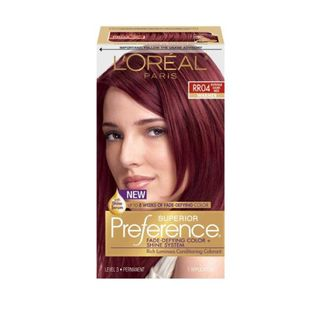 L\'Oreal Superior Preference Intense Dark Red RR04 Hair Color by L ...