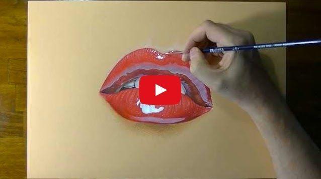 Los Dibujos Mas Realistas Los Labios Dibujos Como Dibujar Cosas Labios