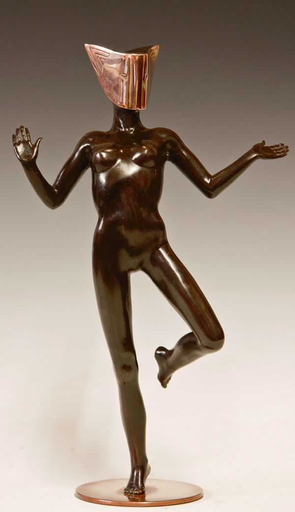 Sculpture: MASQUERADE 8 (Small Nude Exotic Masked Man