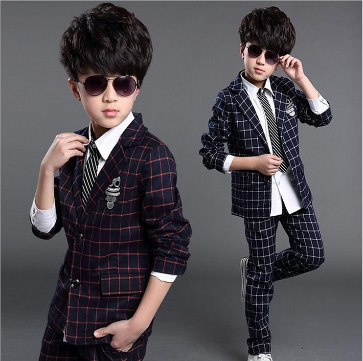 76bc150af6953 2017 2016 Kids Baby Boys Blazers Clothes Weddings Suits Jackets Pants Set  Children'S Formal Wedding Costume Suit For Boy Clothing Q65 From Gengduo,  ...