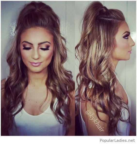 beautiful-high-ponytail-and-makeup-pink