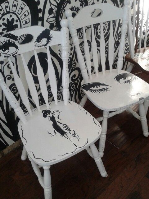 Painted chairs - stühle bemalen - #Bemalen #chairs #painted #Stühle