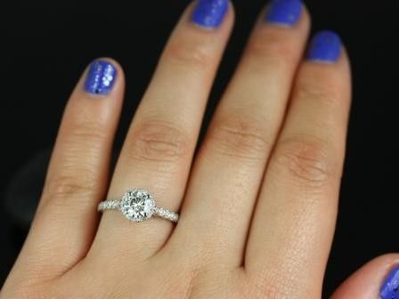 round halo engagement rings on hand wwwpixsharkcom