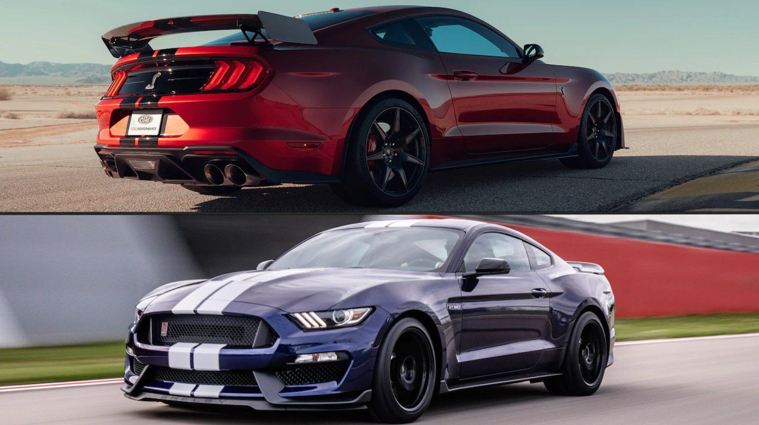 2020 Ford Mustang Shelby Gt500 Vs Gt350 How They Re Different Shelby Mustang Gt500 Ford Mustang Shelby Mustang Shelby