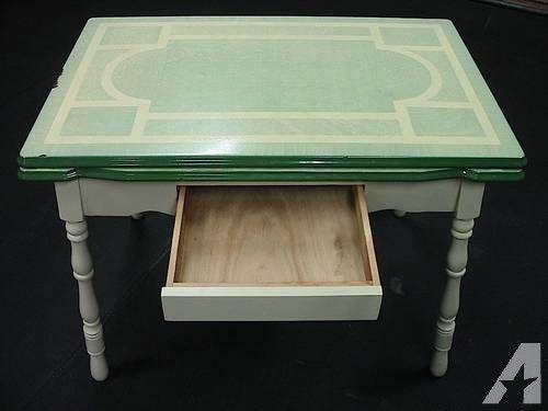 vintage enamel top table - Google Search | Vintage table ...
