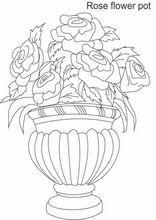 Ausmalbilder Blumenvasen2 Blumenzeichnung Blumen Vase Blumenvase