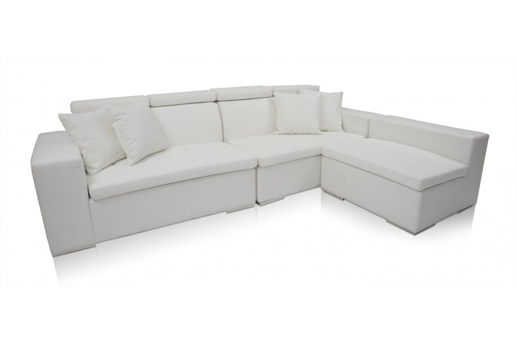 Brilliant Monaco Sectional Leather Modern Sofa White From Modani 1700 Forskolin Free Trial Chair Design Images Forskolin Free Trialorg