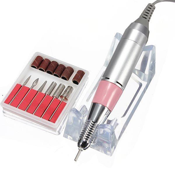 220V-250V Electric Nail Drill Machine Set Manicure Pedicure Tool ...