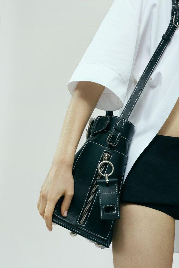 b4bd00fa3e Acne Studios Buckle jeans black Bucket bag