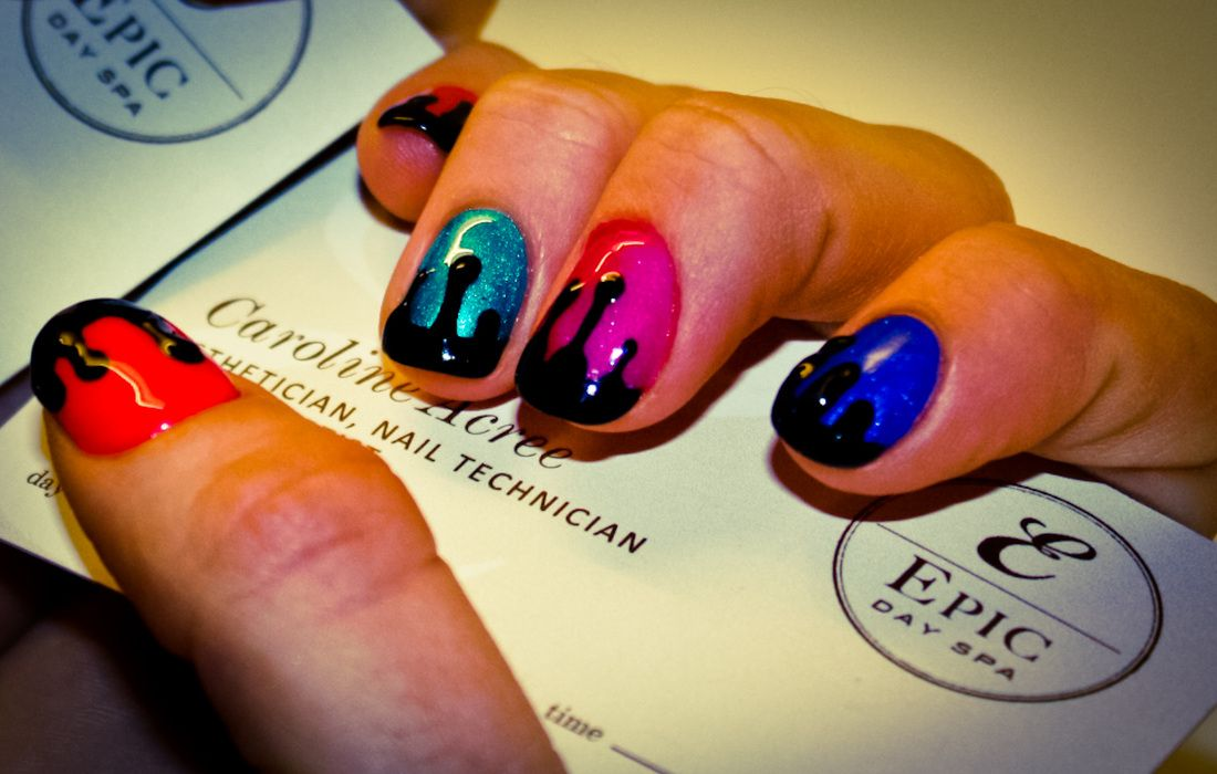 Nail Design By Caroline Acree Of Epic Day Spa Nails Opi Shellac