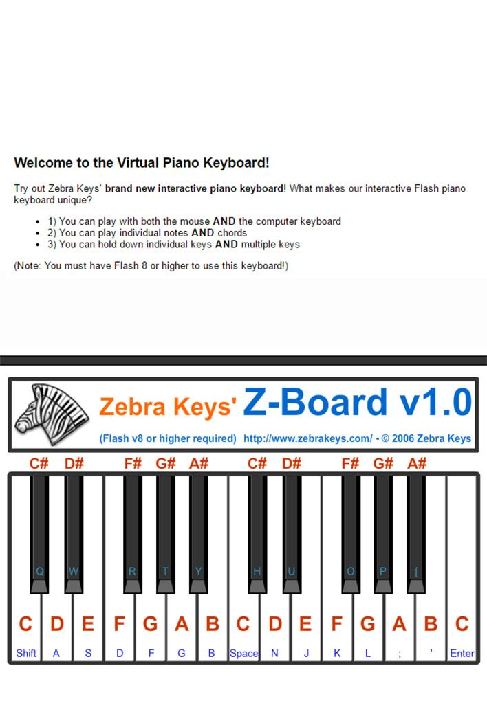 Access This Online Virtual Piano Keyboard To Practice Easy Piano