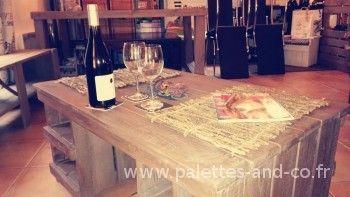 Table-basse bois palettes sur-mesure avec casiers rangements | Casier rangement, Rangement bois ...