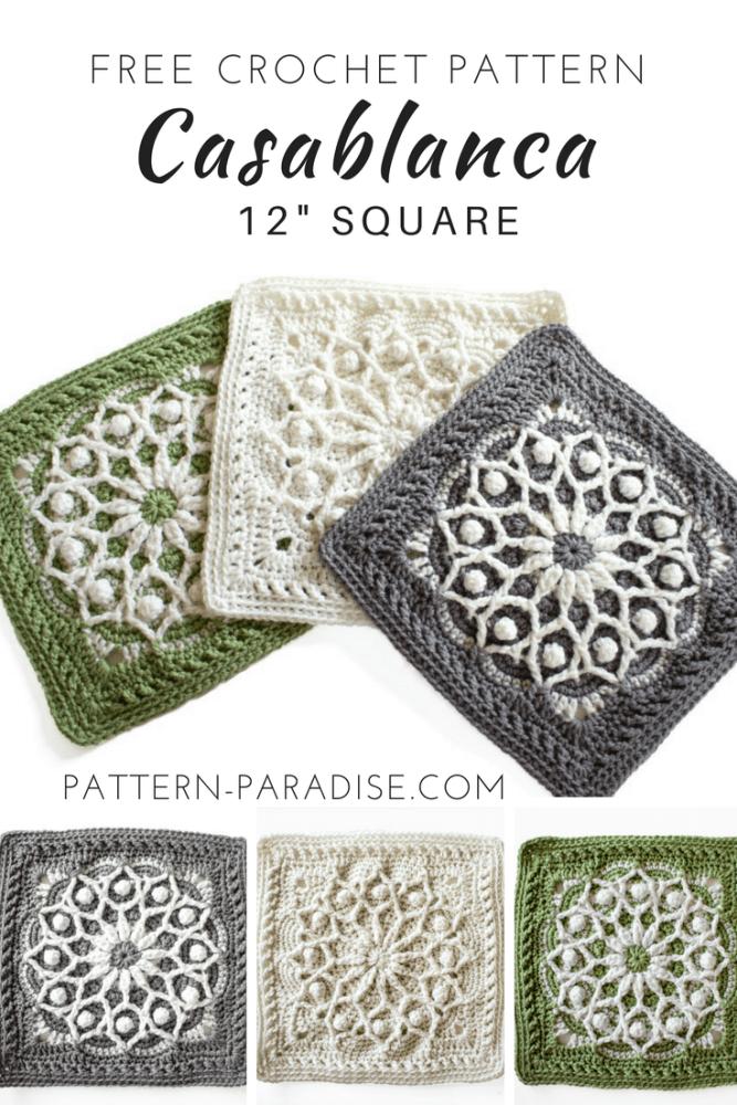 Free Crochet Pattern: Casablanca Crochet Square | crochette ...