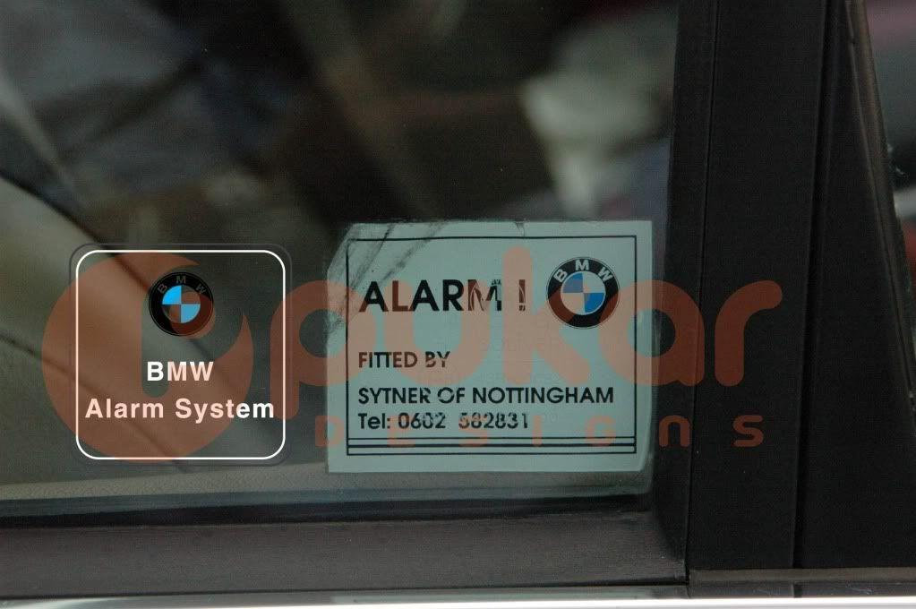 Image Result For Bmw Alarm Sticker Bmw E28 Bmw E28 Bmw Stickers