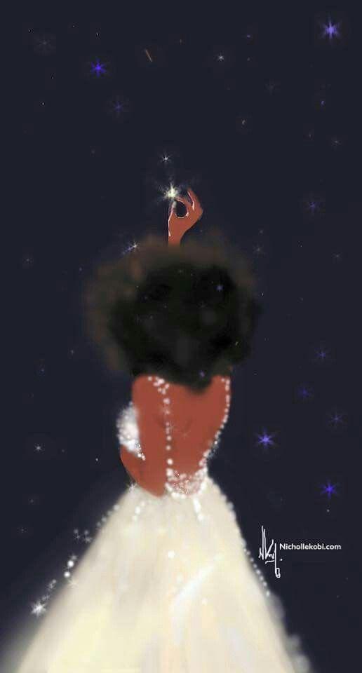 Beautiful black art. Believe in yourself. Nicholle Kobi.