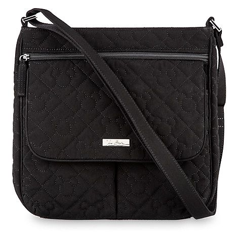 Mickey Mouse Icon Mailbag by Vera Bradley - Black | My Style ... : vera bradley black quilted bag - Adamdwight.com