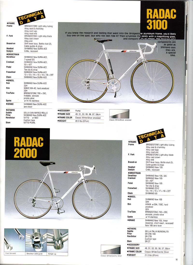 Bridgestone Bicycle Catalogue 1988 16 Bridgestone Bike Brands Bicycle