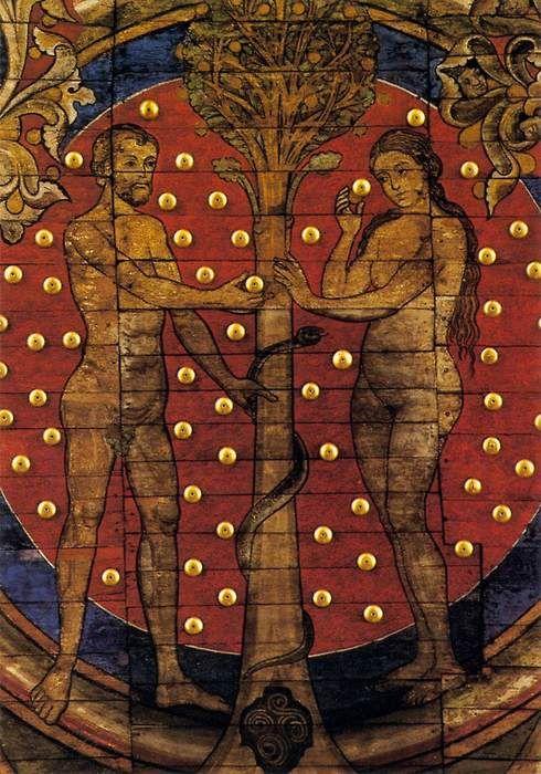 ROMANESQUE PAINTER, German Wooden ceiling (detail) 1225-50 Painted wood St Michael, Hildesheim via www.wga.hu