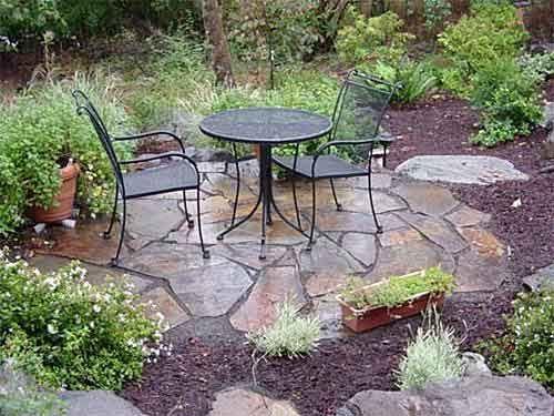 Pin by theresa on yard ideas | Pinterest | Flagstone walkway, Front ...