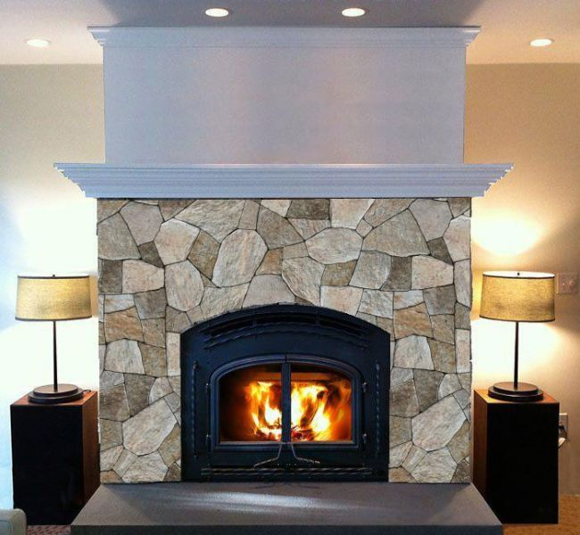 Visualized Fireplace   Colonial Tan Mosaic