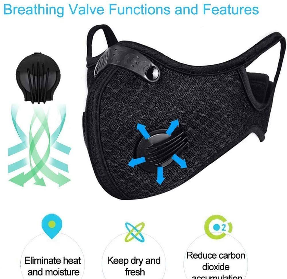 Dustproof Sports Mask Activated Carbon Anti Pollution