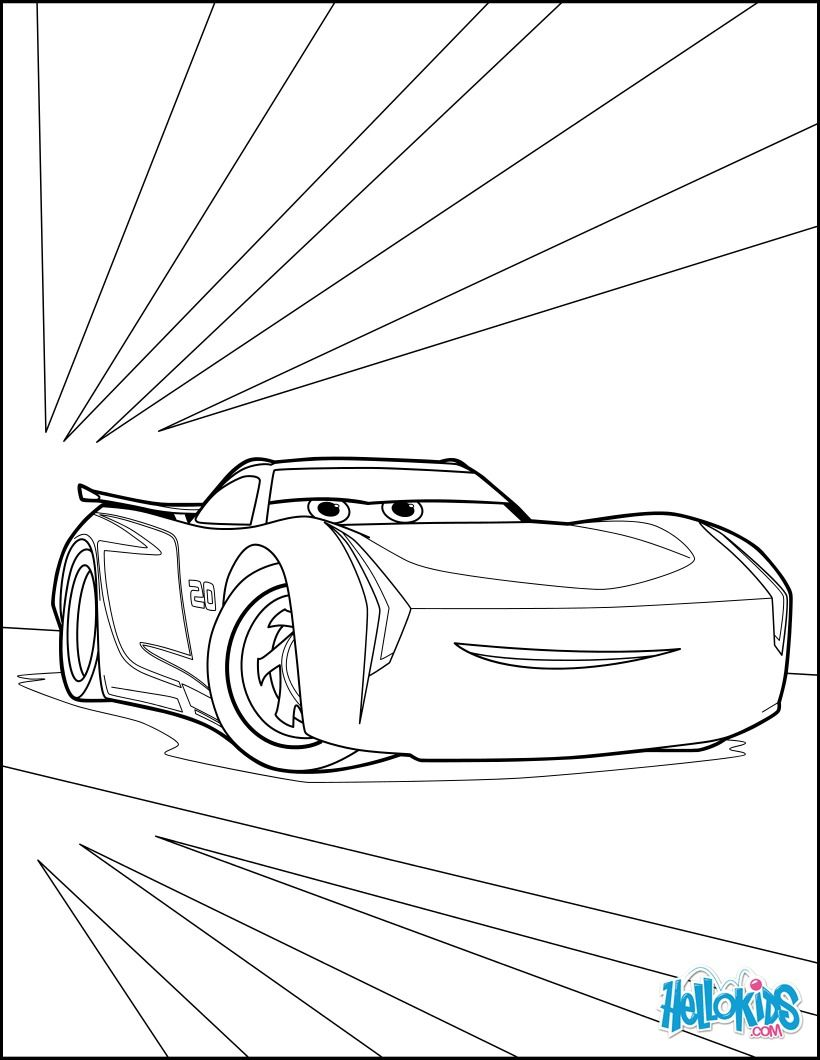 Cars 3 coloring page. More Cars and Disney coloring sheets